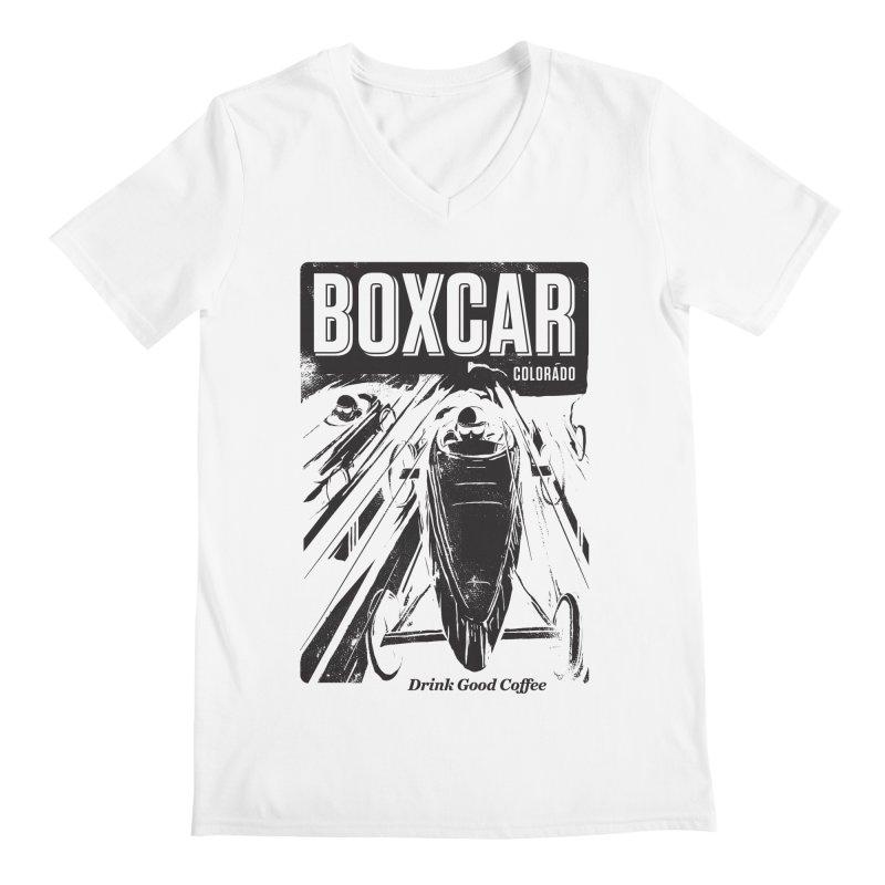 Boxcar Soapbox Racer 2 (blk) Men's V-Neck by Smokeproof