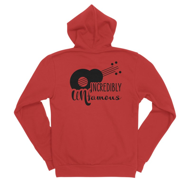 Incredibly Unfamous Guitar (blk) Women's Zip-Up Hoody by Smokeproof