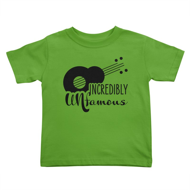 Incredibly Unfamous Guitar (blk) Kids Toddler T-Shirt by Smokeproof