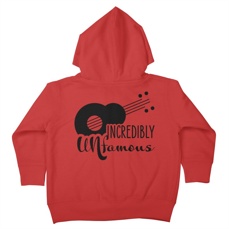 Incredibly Unfamous Guitar (blk) Kids Toddler Zip-Up Hoody by Smokeproof