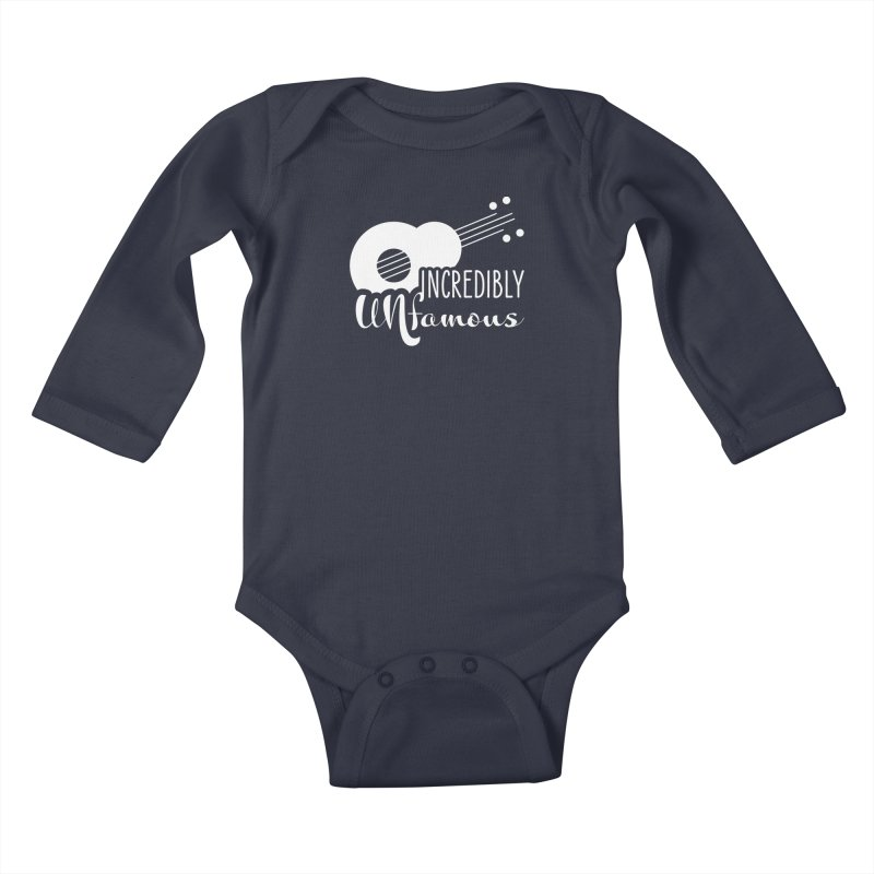 Incredibly Unfamous Guitar (wht) Kids Baby Longsleeve Bodysuit by Smokeproof