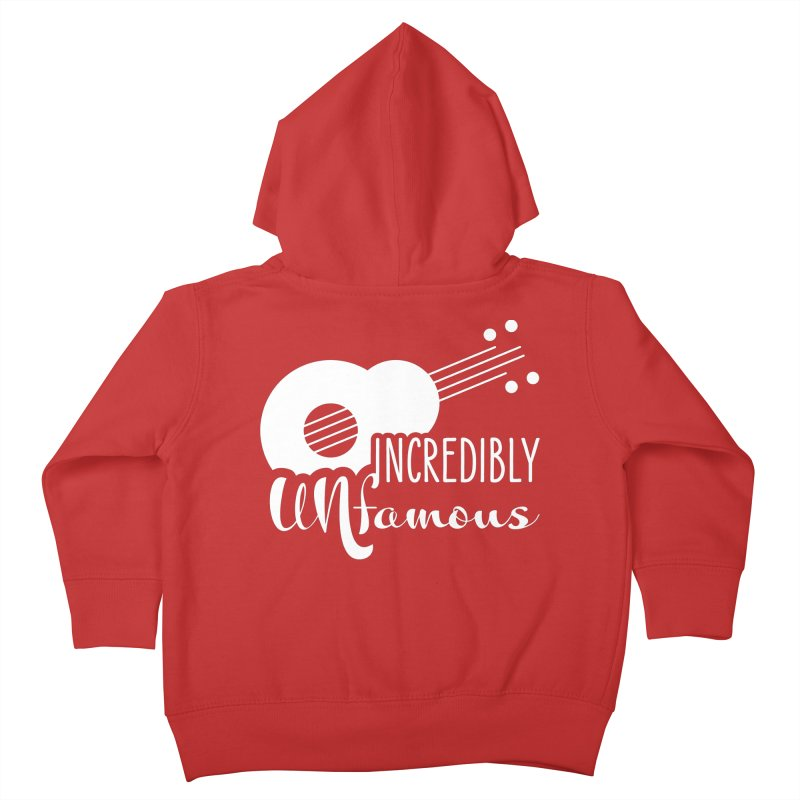 Incredibly Unfamous Guitar (wht) Kids Toddler Zip-Up Hoody by Smokeproof