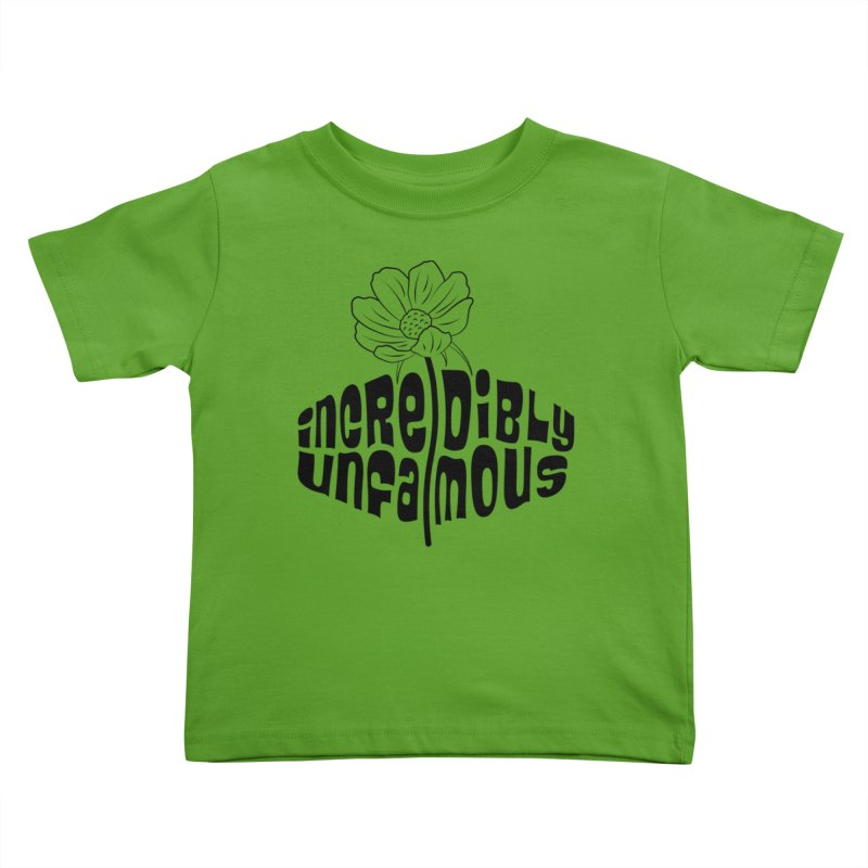 Incredibly Unfamous Flower (blk) Kids Toddler T-Shirt by Smokeproof
