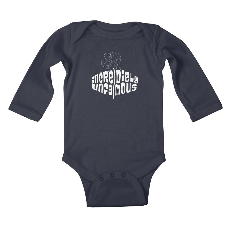 Incredibly Unfamous Flower (Wht) Kids Baby Longsleeve Bodysuit by Smokeproof