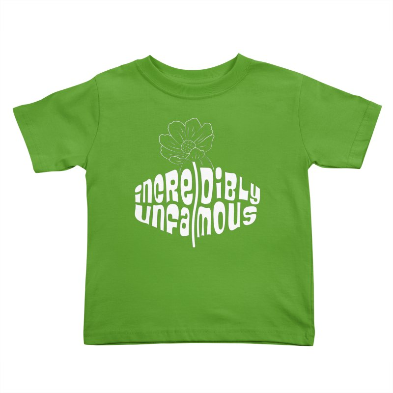 Incredibly Unfamous Flower (Wht) Kids Toddler T-Shirt by Smokeproof