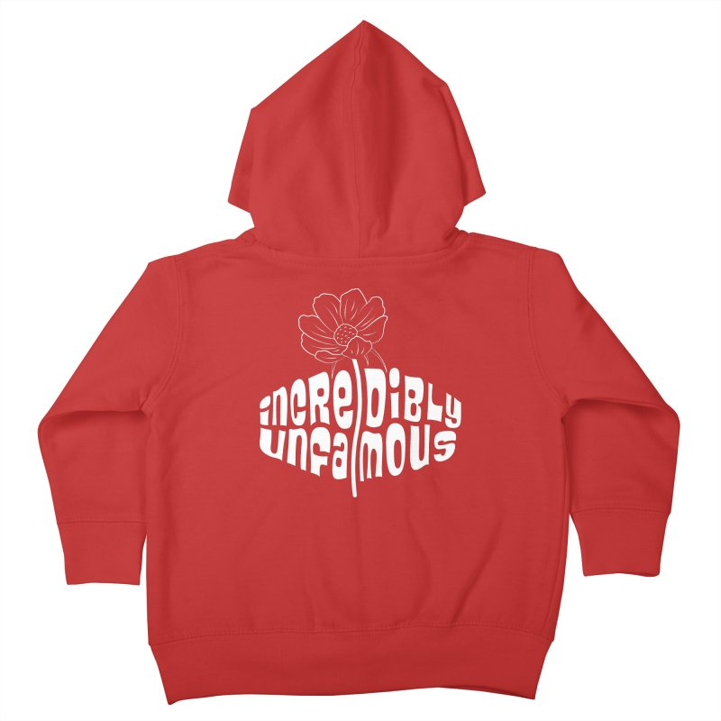Incredibly Unfamous Flower (Wht) Kids Toddler Zip-Up Hoody by Smokeproof