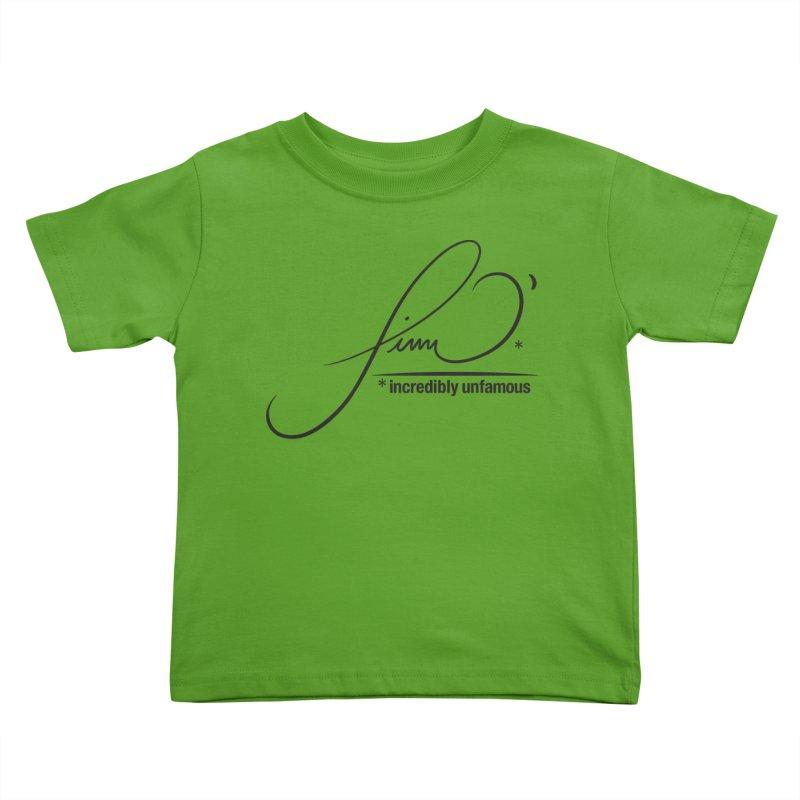 Finn O' Script (blk) Kids Toddler T-Shirt by Smokeproof