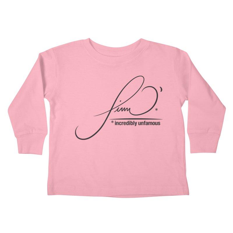 Finn O' Script (blk) Kids Toddler Longsleeve T-Shirt by Smokeproof