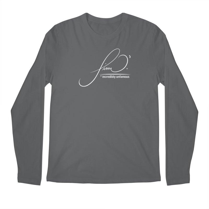 Finn O' Script (wht) Men's Longsleeve T-Shirt by Smokeproof