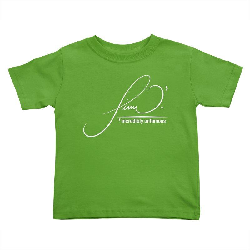 Finn O' Script (wht) Kids Toddler T-Shirt by Smokeproof