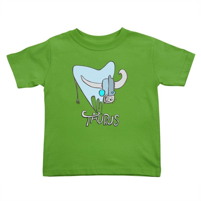 Rough Taurus Kids Toddler T-Shirt by Smokeproof