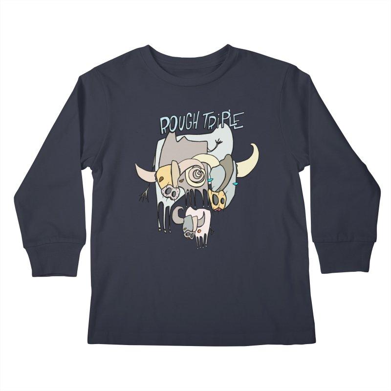 Rough Triple Kids Longsleeve T-Shirt by Smokeproof
