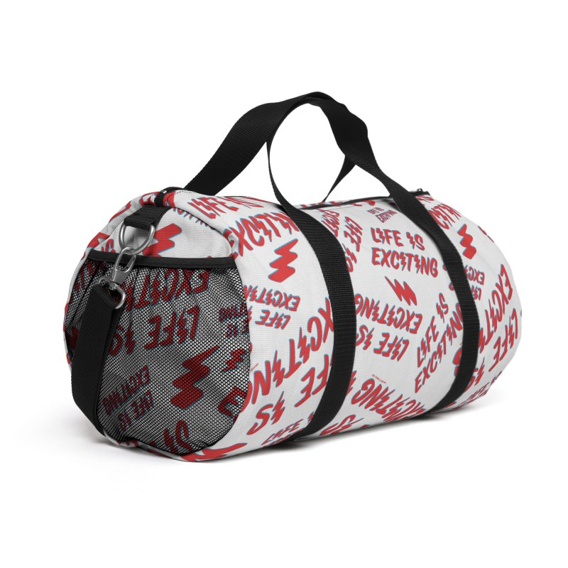 Life Is Exciting (Outline) [All Over Print] Accessories Bag by Smokey's Tangle