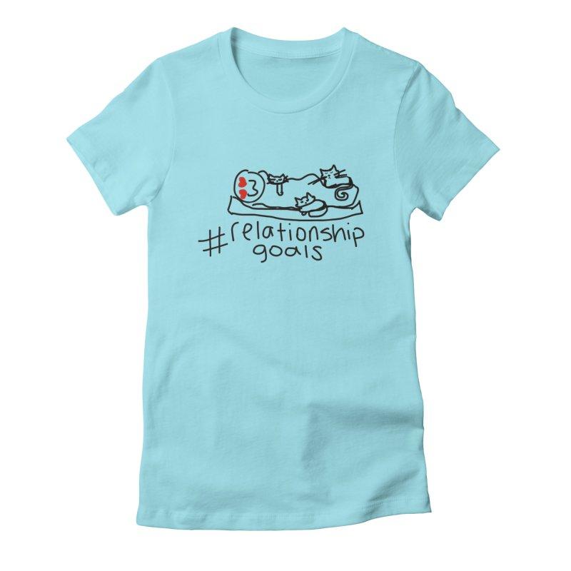 Caturday Night Women's T-Shirt by smunchkin
