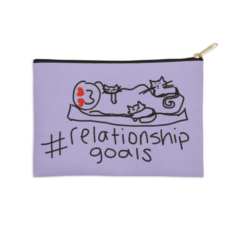 Caturday Night in Zip Pouch by smunchkin