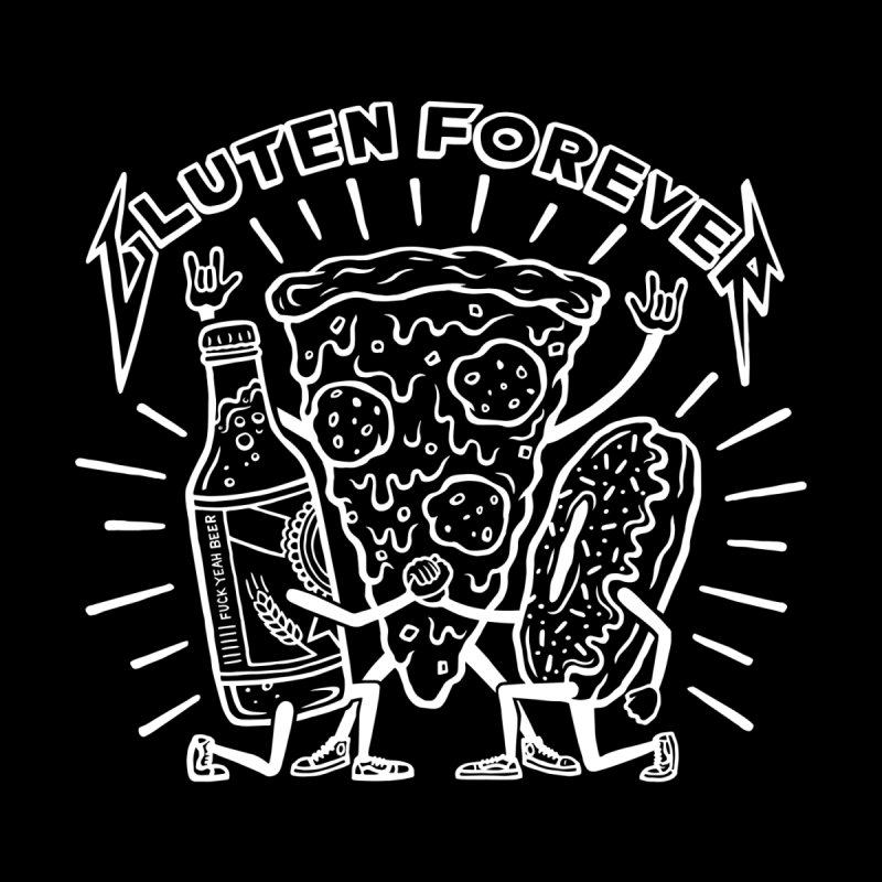 Gluten Forever Pizza Party by snackmachine's Artist Shop