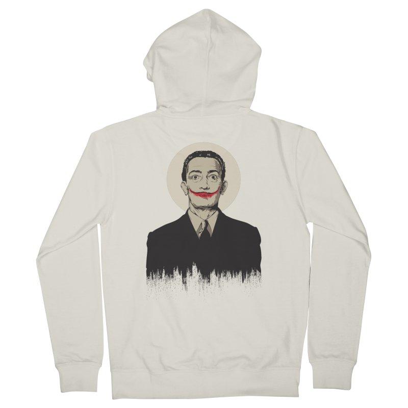 Dali   The Joker Women's French Terry Zip-Up Hoody by Gabriel Mihai Artist Shop