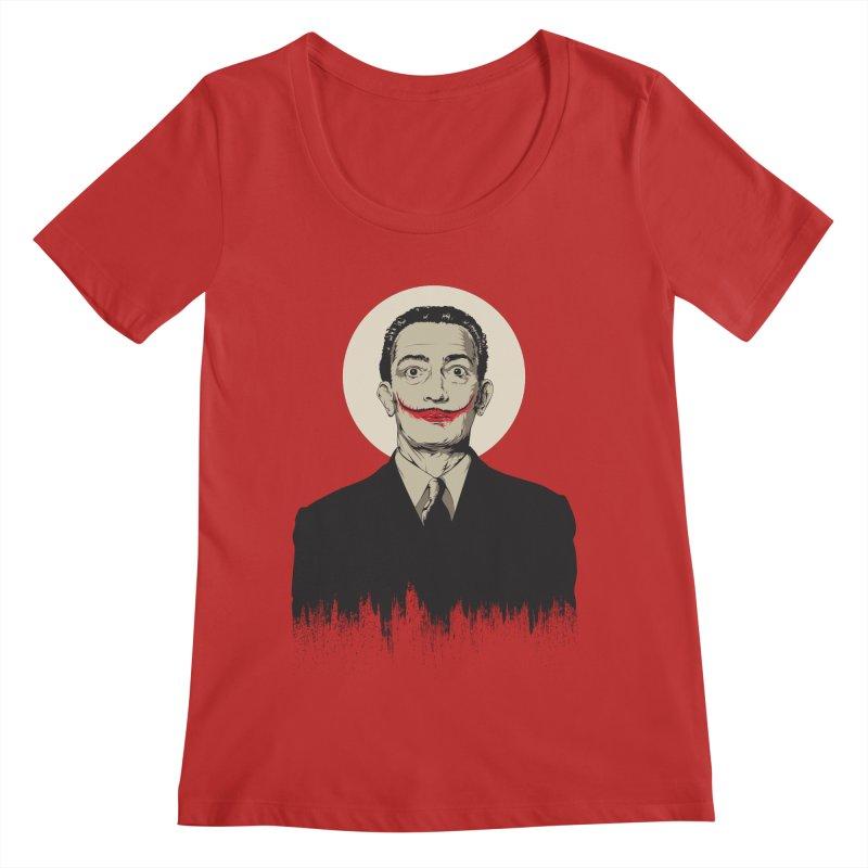 Dali | The Joker Women's Regular Scoop Neck by Gabriel Mihai Artist Shop