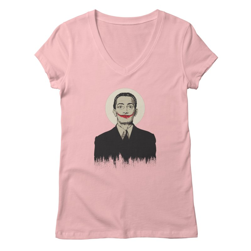 Dali | The Joker Women's V-Neck by Gabriel Mihai Artist Shop