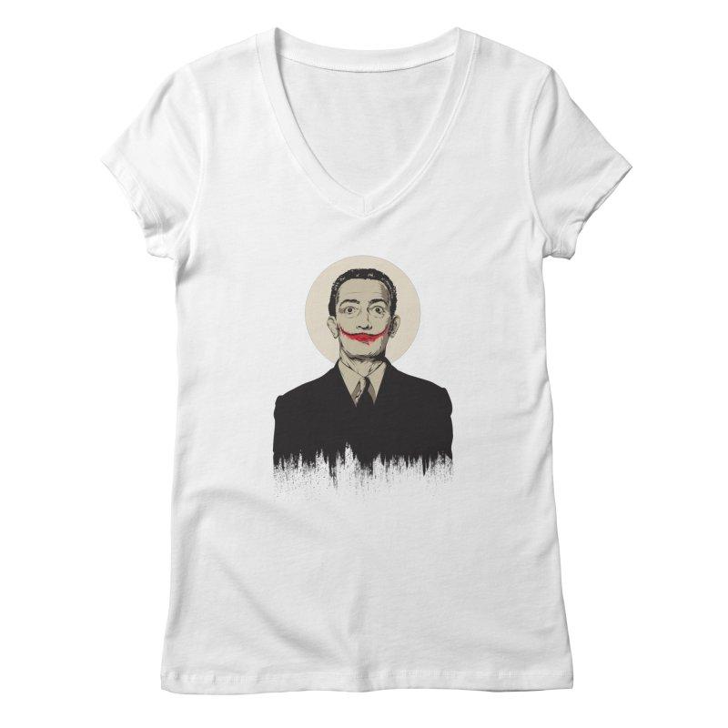 Dali   The Joker Women's V-Neck by Gabriel Mihai Artist Shop