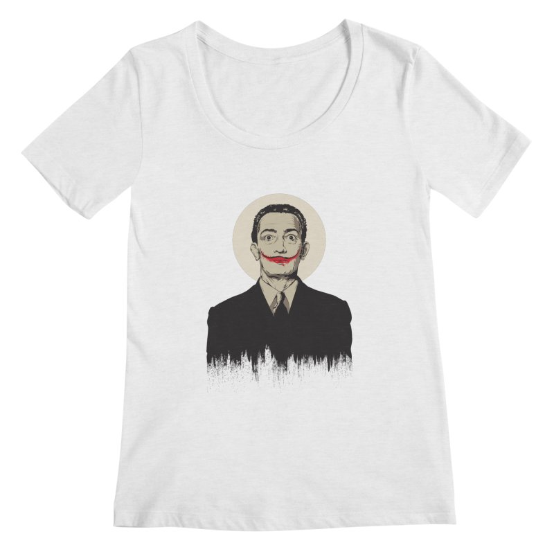 Dali | The Joker Women's Scoop Neck by Gabriel Mihai Artist Shop