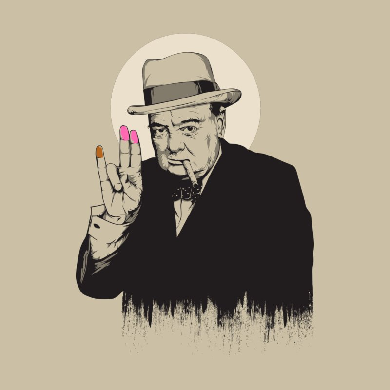 Churchill | The Shoker Women's T-Shirt by Gabriel Mihai Artist Shop