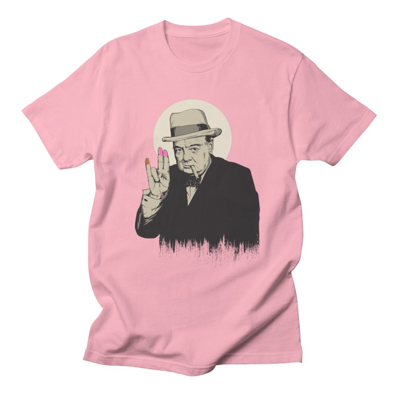 Churchill   The Shoker Men's T-Shirt by Gabriel Mihai Artist Shop