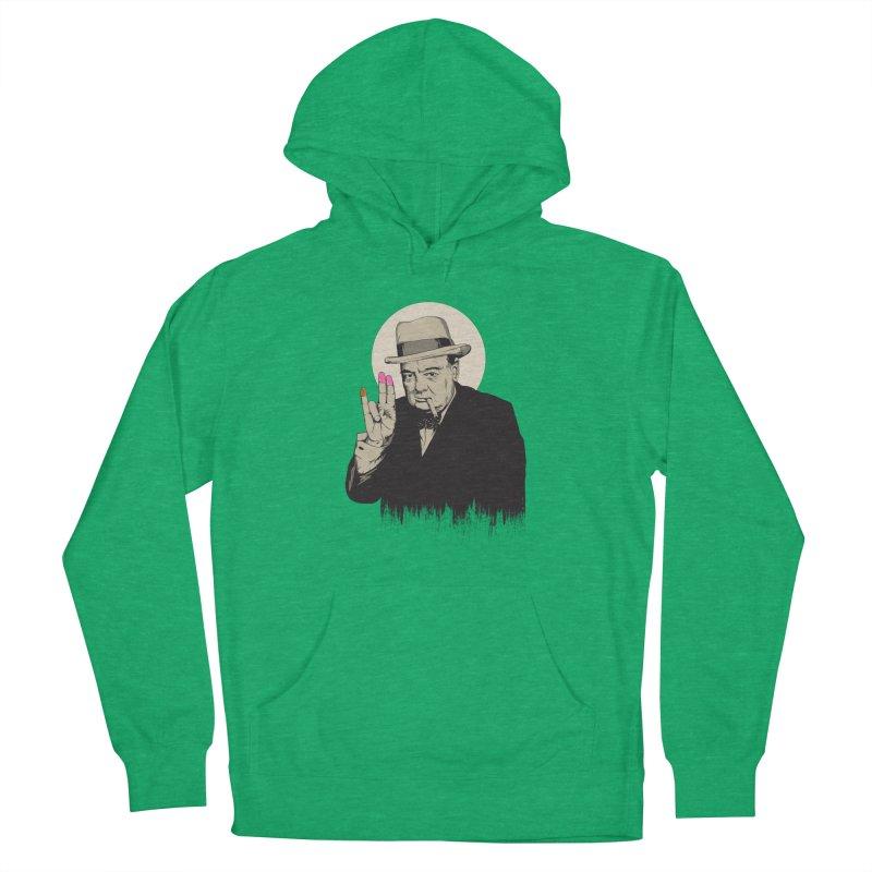 Churchill   The Shoker Women's Pullover Hoody by Gabriel Mihai Artist Shop