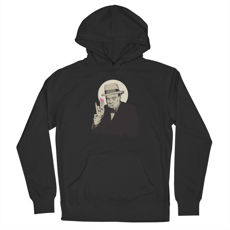 Churchill | The Shoker Men's Pullover Hoody by Gabriel Mihai Artist Shop