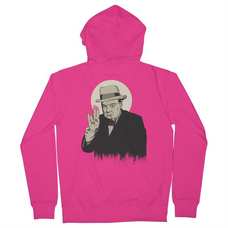 Churchill | The Shoker Men's Zip-Up Hoody by Gabriel Mihai Artist Shop