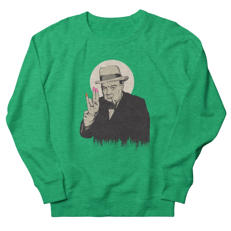 Churchill | The Shoker Women's Sweatshirt by Gabriel Mihai Artist Shop