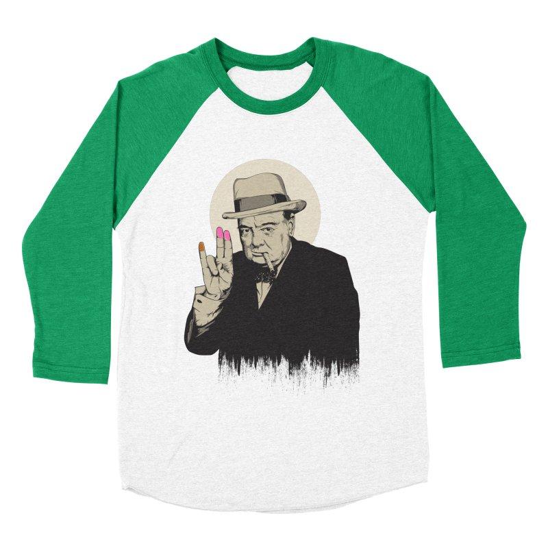 Churchill | The Shoker Women's Baseball Triblend Longsleeve T-Shirt by Gabriel Mihai Artist Shop