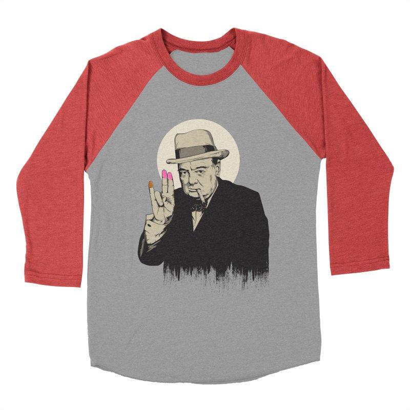 Churchill   The Shoker Women's Baseball Triblend Longsleeve T-Shirt by Gabriel Mihai Artist Shop
