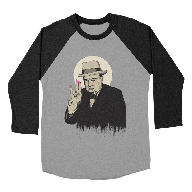Churchill | The Shoker Men's Baseball Triblend Longsleeve T-Shirt by Gabriel Mihai Artist Shop