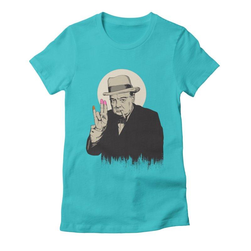 Churchill | The Shoker Women's T-Shirt by Gabriel Mihai Artist Shop