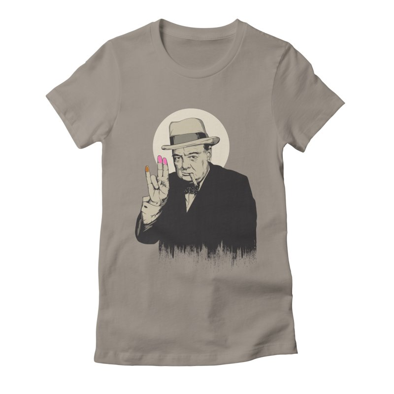 Churchill   The Shoker Women's T-Shirt by Gabriel Mihai Artist Shop