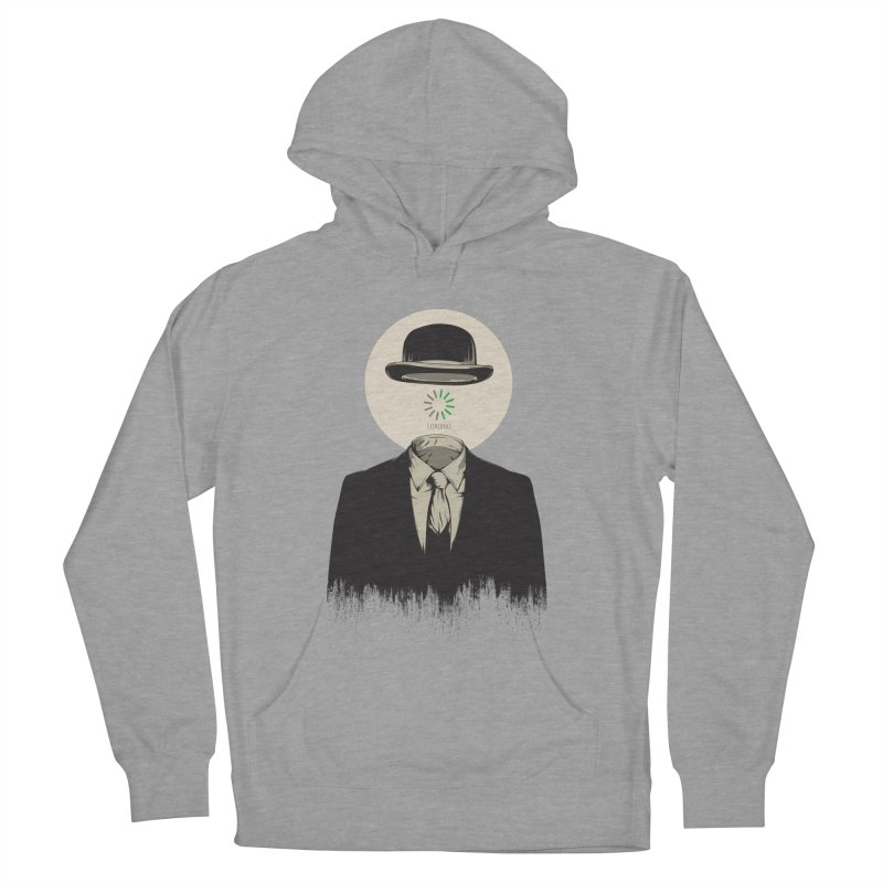 Magritte | The Loading of Man Men's French Terry Pullover Hoody by Gabriel Mihai Artist Shop