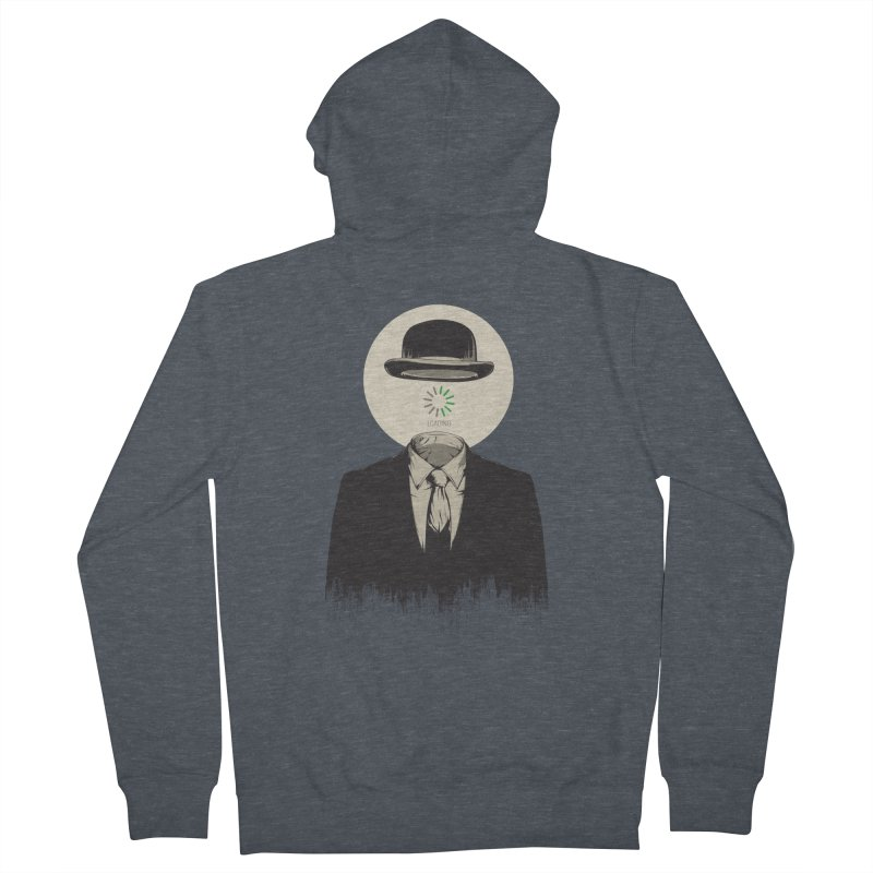 Magritte   The Loading of Man Women's French Terry Zip-Up Hoody by Gabriel Mihai Artist Shop