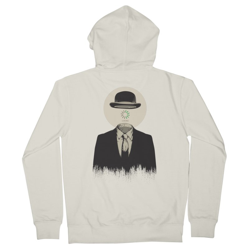 Magritte | The Loading of Man Women's French Terry Zip-Up Hoody by Gabriel Mihai Artist Shop
