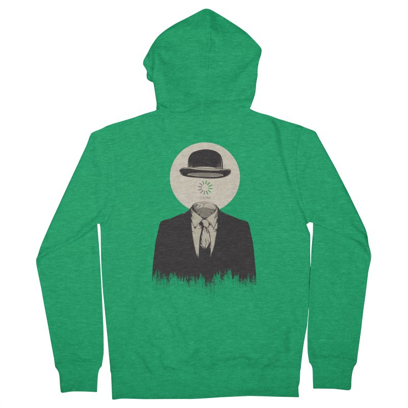Magritte | The Loading of Man Men's Zip-Up Hoody by Gabriel Mihai Artist Shop