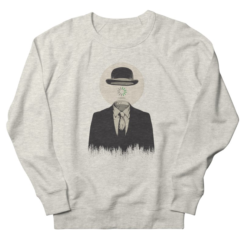 Magritte | The Loading of Man Men's French Terry Sweatshirt by Gabriel Mihai Artist Shop
