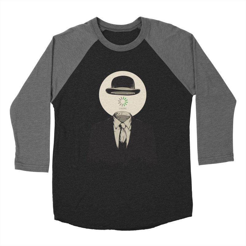 Magritte   The Loading of Man Women's Baseball Triblend Longsleeve T-Shirt by Gabriel Mihai Artist Shop