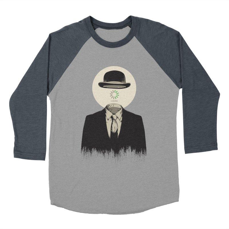 Magritte | The Loading of Man Women's Baseball Triblend Longsleeve T-Shirt by Gabriel Mihai Artist Shop