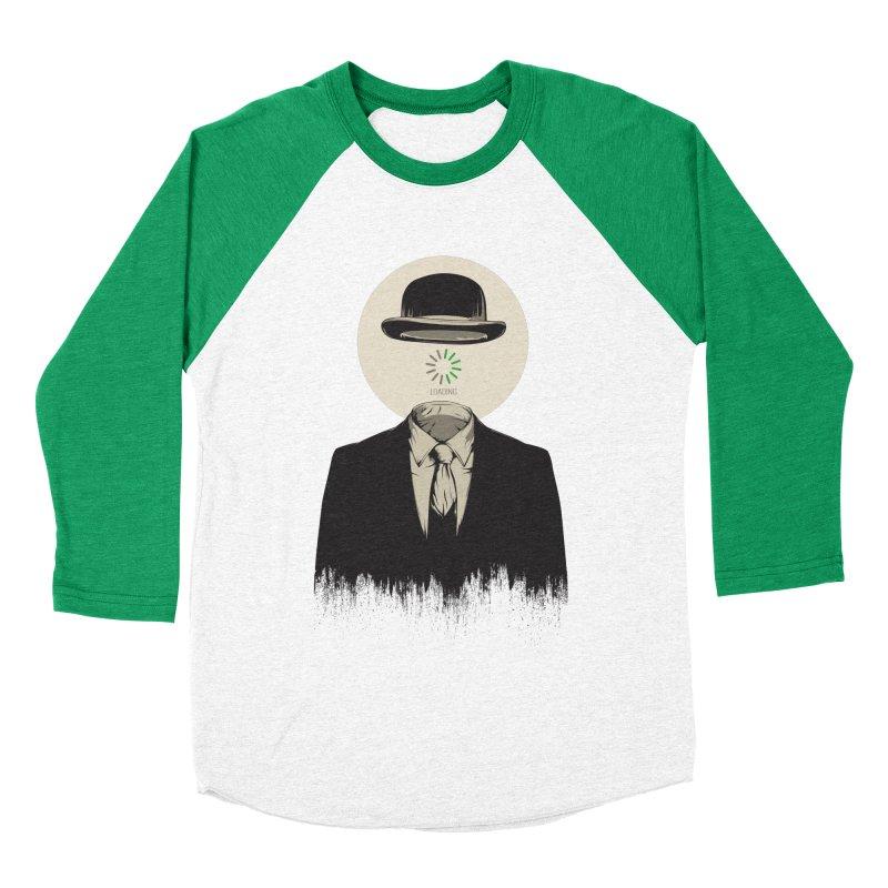 Magritte | The Loading of Man Men's Baseball Triblend Longsleeve T-Shirt by Gabriel Mihai Artist Shop