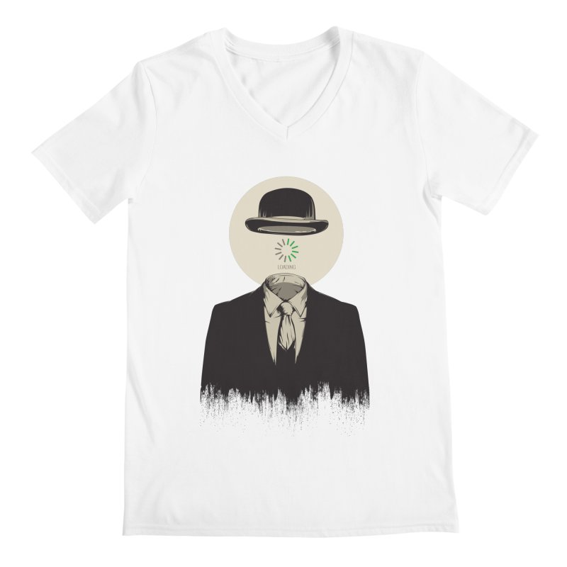 Magritte | The Loading of Man Men's V-Neck by Gabriel Mihai Artist Shop