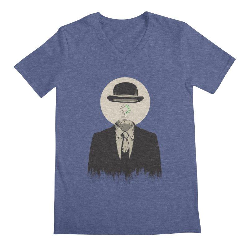 Magritte   The Loading of Man Men's V-Neck by Gabriel Mihai Artist Shop