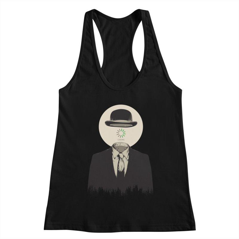 Magritte | The Loading of Man Women's Racerback Tank by Gabriel Mihai Artist Shop