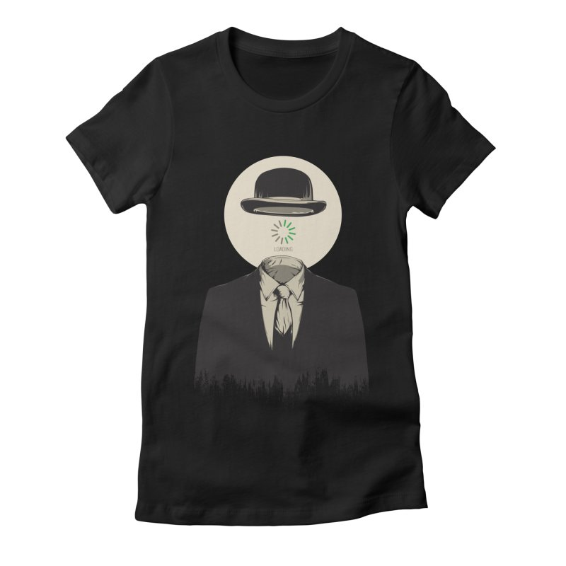 Magritte | The Loading of Man Women's Fitted T-Shirt by Gabriel Mihai Artist Shop