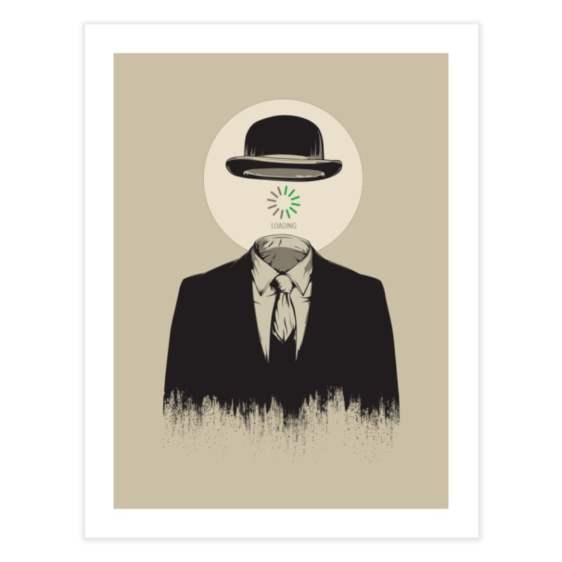 Magritte | The Loading of Man Home Fine Art Print by Gabriel Mihai Artist Shop