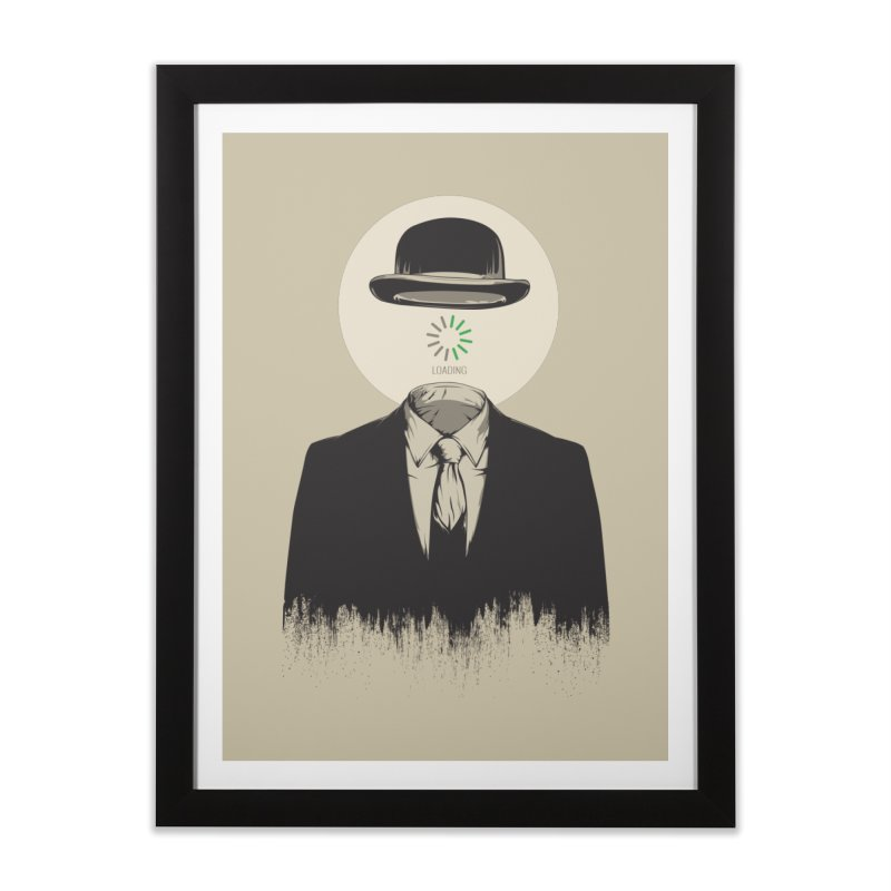 Magritte | The Loading of Man Home Framed Fine Art Print by Gabriel Mihai Artist Shop